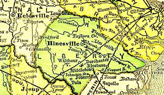 LIBERTY COUNTY,GEORGIA 1895