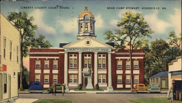 Liberty County Court House, Near Camp Stewart Hinesville, GA